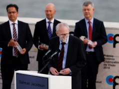 Samuel G. Jacobson speaks during the 2018 Antonio Champalimaud Vision Awards ceremony at Champalimaud Foundation in Lisbon