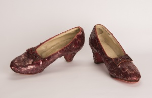 Minneapolis Division of the FBI image of a pair of ruby slippers featured in the classic 1939 film The Wizard of Oz