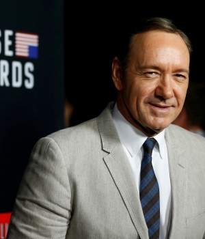 "Cast member Spacey poses at the premiere for the second season of the television series ""House of Cards"" in Los Angeles"