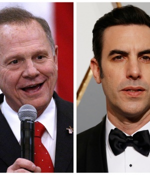 Roy Moore and Sacha Baron Cohen in combination photo