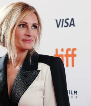 Actor Julia Roberts arrives for the world premiere of Homecoming at the Toronto International Film Festival (TIFF) in Toronto