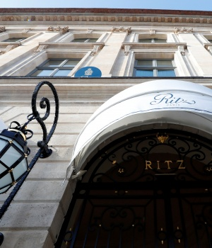 The luxury Ritz Paris hotel is pictured in the Place Vendome in Paris