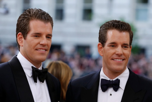 Entrepeneurs Tyler and Cameron Winklevoss at the Met Gala in New York