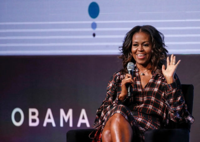 Former First Lady Michelle Obama speaks during the second day of the first Obama Foundation Summit in Chicago