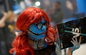 A cosplayer attends the international Comic Con at Kyalami race course in Johannesburg