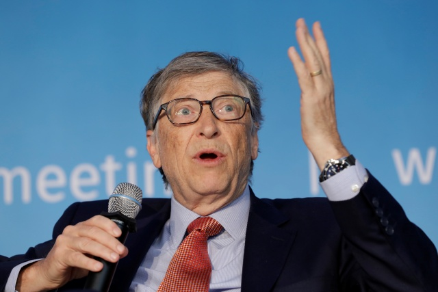 Gates, co-chair of the Bill & Melinda Gates Foundation; speaks at a panel discussion in Washington