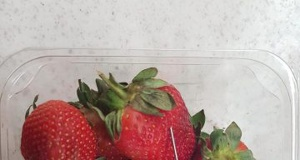 Supplied undated handout image of a thin piece of metal seen among a punnet of strawberries in Gladstone