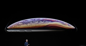 Tim Cook, CEO of Apple, speaks on stage for an Apple Inc product launch in Cupertino