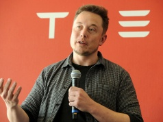 Founder and CEO of Tesla Motors Musk speaks during a media tour of the Tesla Gigafactory in Sparks