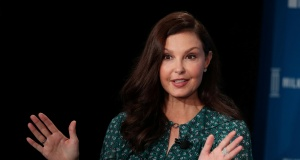 Ashley Judd speaks at the Milken Institute's 21st Global Conference in Beverly Hills