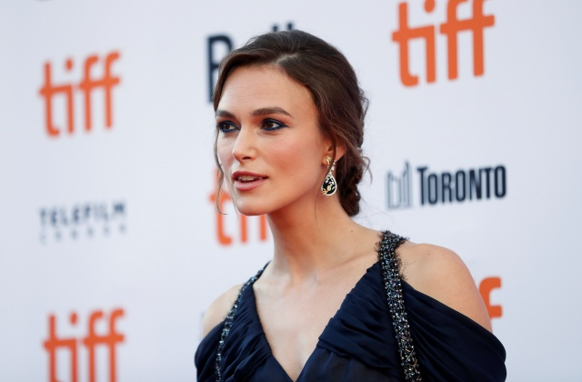 Actor Keira Knightley arrives for the Canadian premiere of the movie