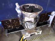 NASA handout photo of TESS, the Transiting Exoplanet Survey Satellite