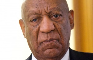 Cosby reacts while being notified a verdict is in at the Montgomery County Courthouse in his sexual assault retrial in Norristown