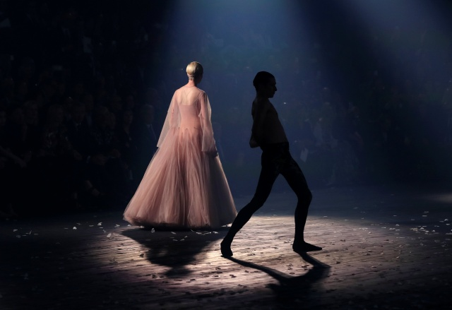 A model presents a creation by designer Maria Grazia Chiuri as part of her Spring/Summer 2019 women's ready-to-wear collection show for fashion house Dior during Fashion Week in Paris