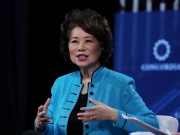 U.S. Transportation Secretary Elaine Chao speaks at the Concordia Summit in Manhattan, New York