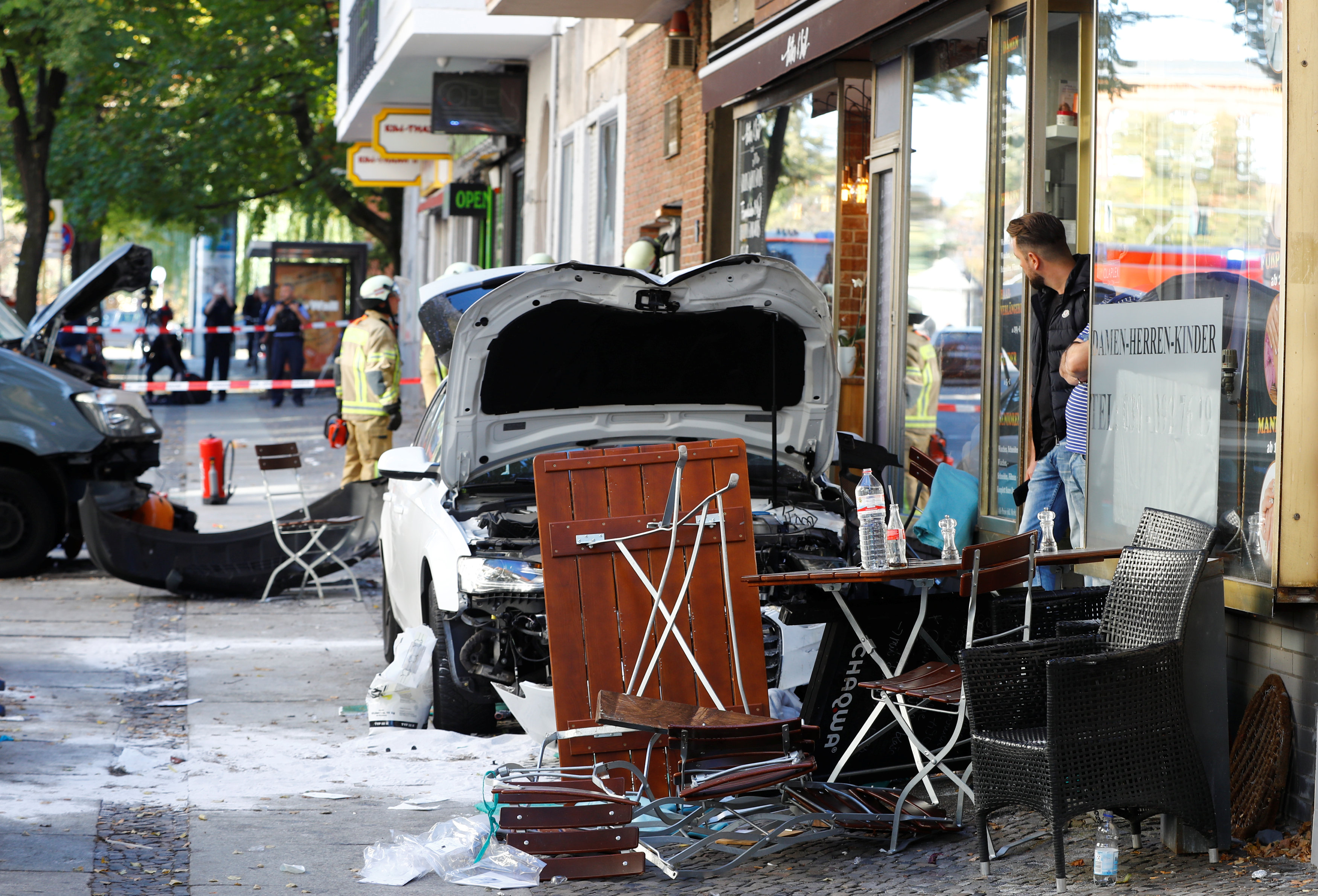 A man drove a car into a cafe in the Charlottenburg district of Berlin