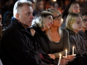 Jill Richardson Perez mother of Matt Coons mourns the loss of her son during a candle-light vigil for the victims of a limousine accident in Amsterdam New York