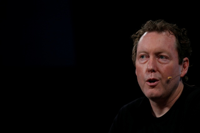 Mike Cagney, CEO, Chairman and co-founder of SoFi, speaks during the TechCrunch Disrupt event in New York