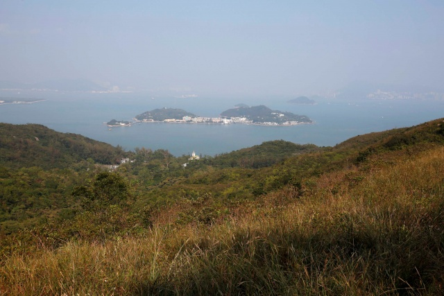 A general view of Peng Chau island and nearby islands, viewed from Lantau, in Hong Kong