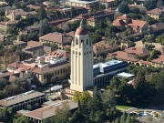 1. Stanford University. The Hoover Tower rises above Stanford University in Palo Alto, California