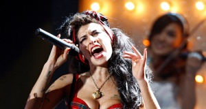 British singer Winehouse performs at the Brit Awards at Earls Court in London