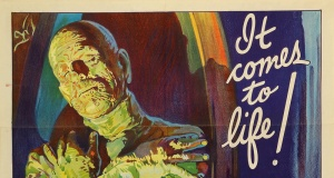 """An original 1932 lithographic film poster designed by Karoly Grosz, for the movie """"The Mummy"""