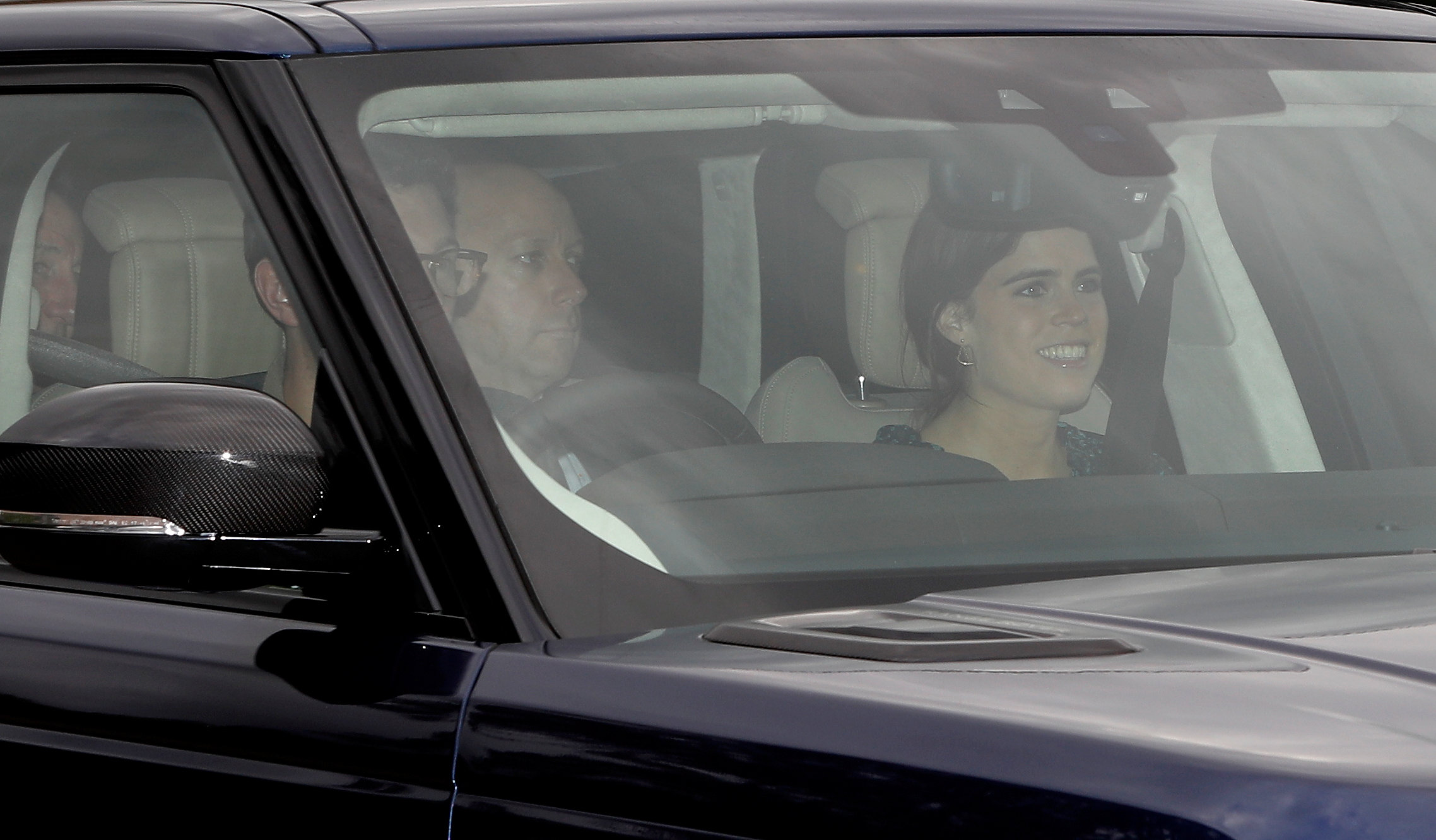 Princess Eugenie and Jack Brooksbank arrive at Windsor Castle a day ahead of their wedding in Windsor