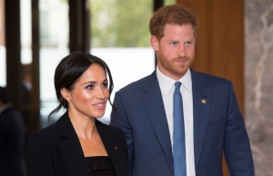 Britain's Prince Harry and Meghan, the Duke and Duchess of Sussex, attend the annual WellChild Awards ceremony the Royal Lancaster Hotel in London