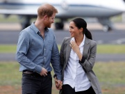 Britain's Prince Harry and Meghan, Duchess