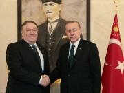 Turkish President Erdogan meets with U.S. Secretary of State Pompeo in Ankara