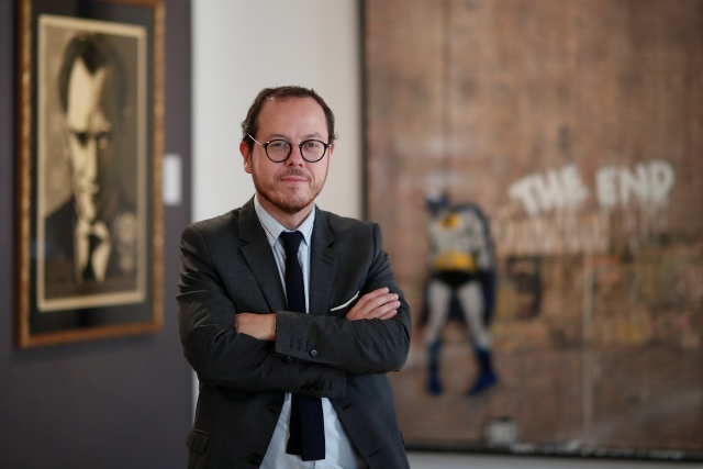 Arnaud Oliveux, auctioneer, poses during a press preview ahead of the upcoming auction