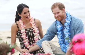 Britain's Prince Harry and his wife Meghan, Duchess of Sussex, visit Bondi Beach in Sydney