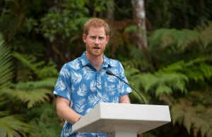 Britain's Prince Harry attends a dedication of the Colo-i-Suva forest to the Queen's Commonwealth Canopy in Suva