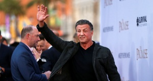"Actor Stallone waves at the premiere of ""The Promise"" in Los Angeles"