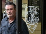 Actor Baldwin exits the 6th precinct of the New York Police Department in Manhattan, New York