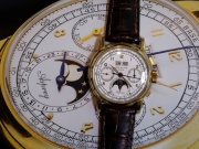 """The Asprey"", a Patek Philippe perpetual calendar chronograph watch reference 2499, is pictured in Geneva"
