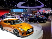 Cars are displayed during the Salao do Automovel International Auto Show in Sao Paulo