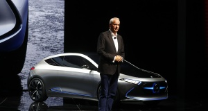 Troska, a board member of Daimler AG presents the new Mercedes Concept EQA car during the Frankfurt Motor Show (IAA) in Frankfurt