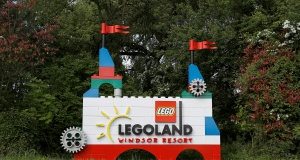 The LEGOLAND entrance is seen in Windsor, Britain May 10, 2018. REUTERS/Peter Nicholls