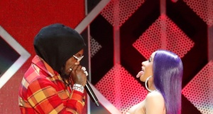 Cardi B and her husband Offset perform during the Jingle Ball concert at The Forum in Inglewood