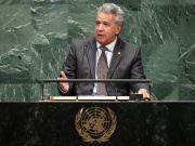 Ecuador's President Lenin Moreno Garces addresses the General Assembly in New York