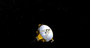 An artist's impression of NASA's New Horizons spacecraft, currently en route to Pluto, is shown in this handout image